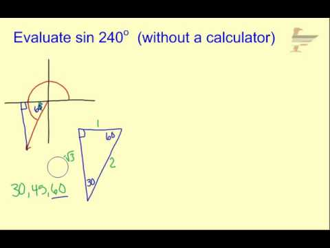 Ch13 Evaluate Trig Function without Calculator - YouTube