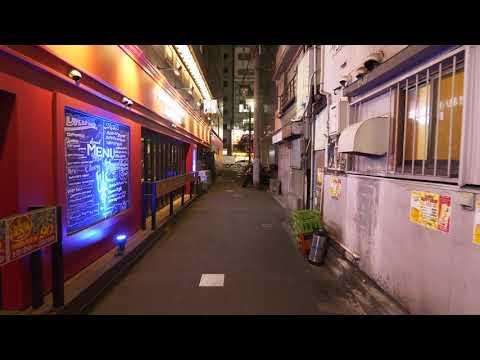 【4K】Night walk in Yokohama Nogecho and Minato-Mirai