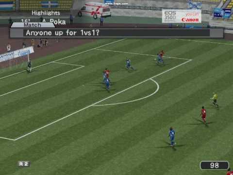 Arthur Boka PES6 Online Goal