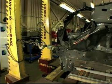 how to car repair how wrecked car frames are straightened youtube