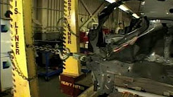 How to: Car Repair : How Wrecked Car Frames are Straightened
