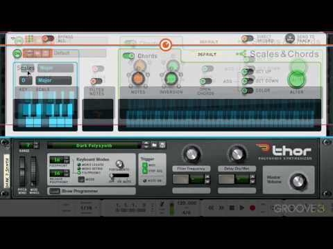 Scales & Chords Interface (Reason 9 Know-How: The Players)