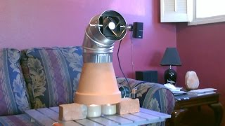 Candle Powered Heater! (Improved!!) - DIY Radiant Space Heater! (w/fan!) - Clay Pot Heater!