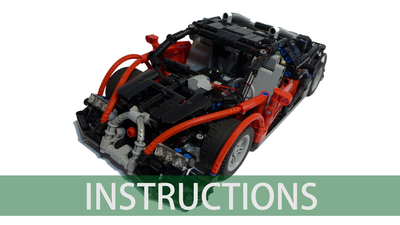 lego technic bugatti veyron building instructions youtube. Black Bedroom Furniture Sets. Home Design Ideas