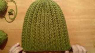 ШАПКА СПИЦАМИ # Рельефным объёмным  узором )crochet cable beanie hat tutorial