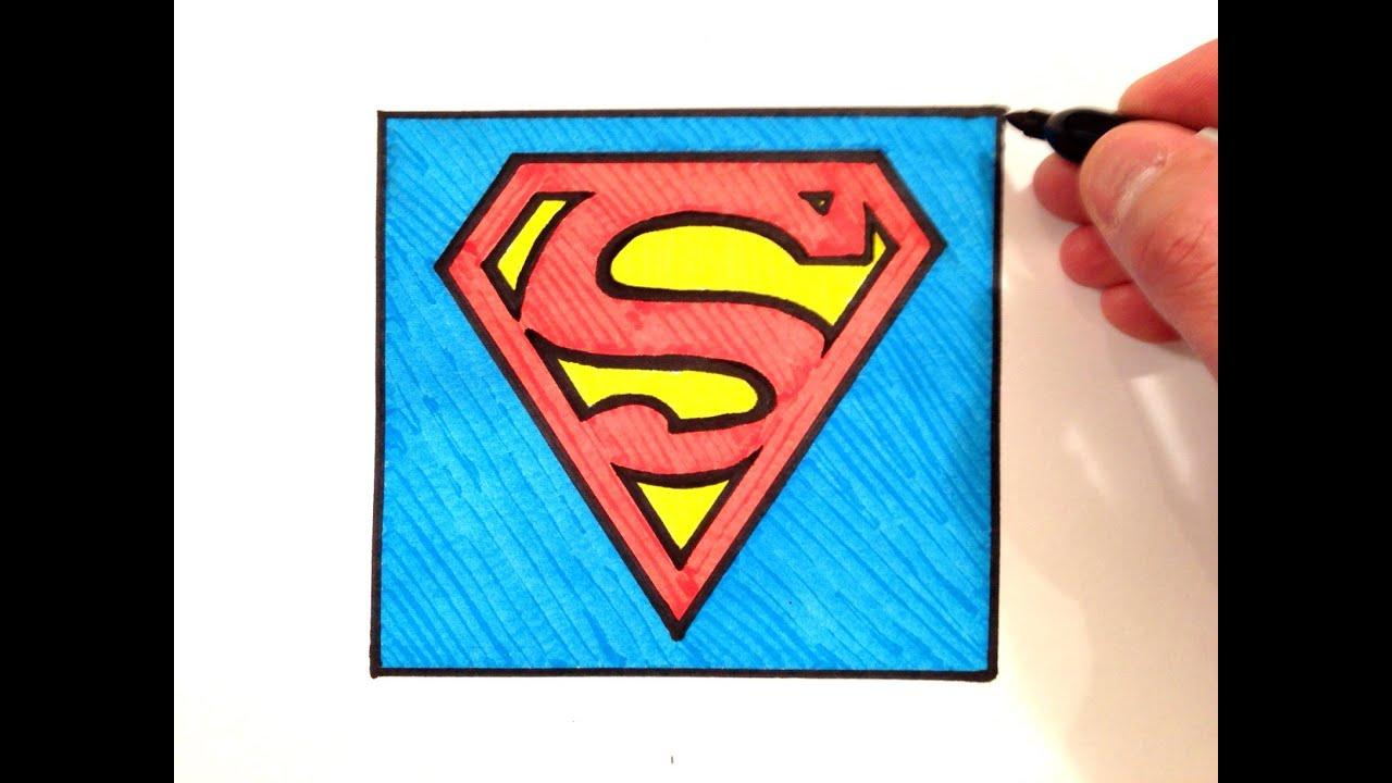 How to draw the superman logo youtube buycottarizona