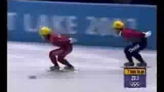 Speed Skating 1,000 Meters - Steven Bradbury 2002 Olympics