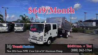 New 2016 Isuzu NPR Crew Cab 14' Alum. Dump - MJ TruckNation