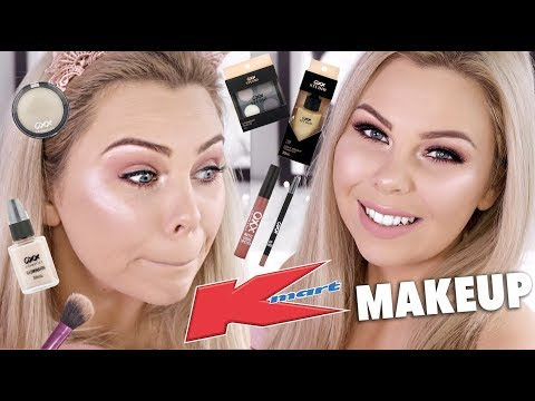 TRYING OUT KMART MAKEUP!