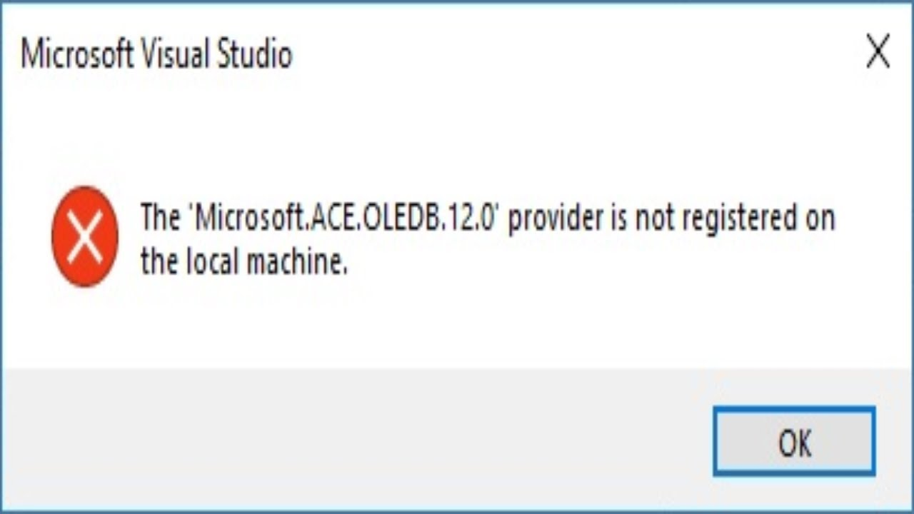 Microsoft ACE OLEDB 12 0 provider is not registered on the local machine  solution | FoxLearn