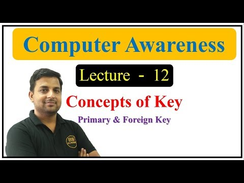 Concepts of Primary Key & Foreign Key - Computer GK in Hindi    SSC / CPCT / All Govt. EXAM