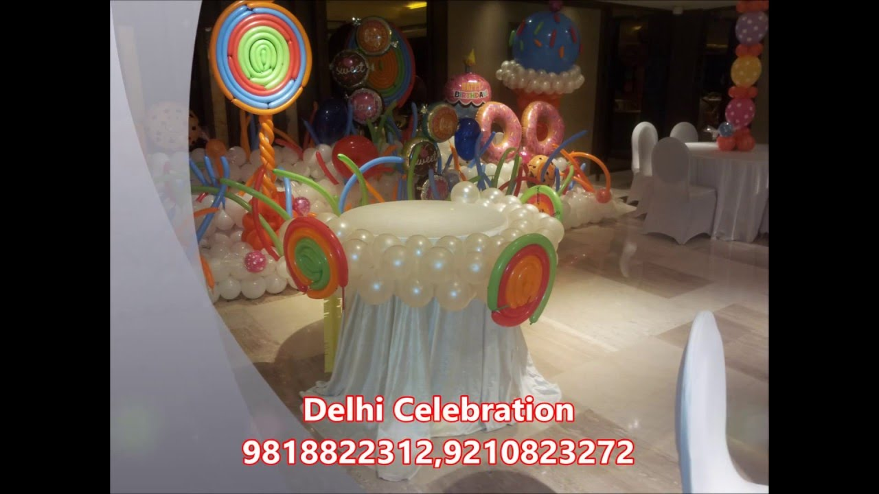 Kids birthday party decorations balloon decoration for Balloon decoration birthday party chennai