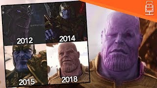 Why is Thanos Different Colors in the MCU & Avengers Infinity War
