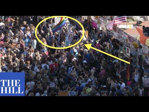 BREAKING: Crowd chants 'NO MORE TRUMP' outside Trump property, celebrates Joe Biden election victory