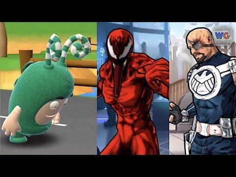 Oddbods Turbo Run Zee vs Spider-Man Carnage and Nick Fury