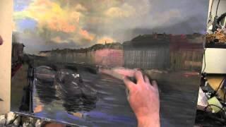 Уроки Игоря Сахарова Питер маслом, архитектура в живописи