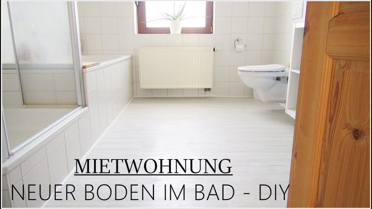 Bad - Mietwohnung - ROOM MAKEOVER mit kleinem Budget I Selbstklebender  Bodenbelag I DIY