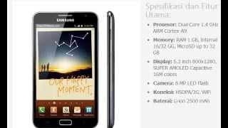 Harga Hp Samsung Galaxy Note N7000