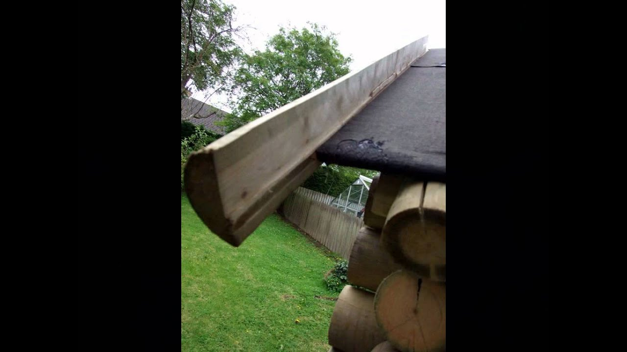 How I Put The Grass Roof On The Log Cabin Youtube