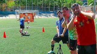 FALTAS DIRECTAS CHALLENGE CON LA ÉLITE | Retos de fútbol