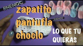 Repeat youtube video ZAPATO PANTUFLA FACIL de tejer Ganchillo Crochet
