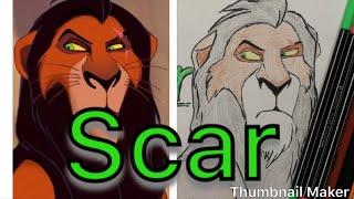 Let's Draw: Scar Lion King
