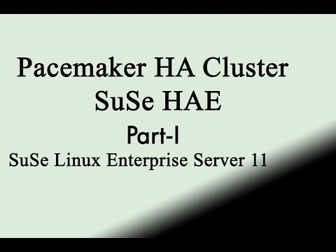 Suse linux enterprise server HAE clustering lab session part1