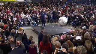 El presidente Mauricio Macri en la apertura de Juegos de la Tercera Edad 2019