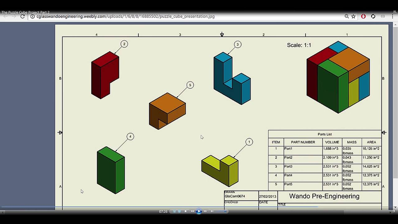 The puzzle cube project part 3 autodesk inventor 2017 youtube the puzzle cube project part 3 autodesk inventor 2017 ccuart Image collections