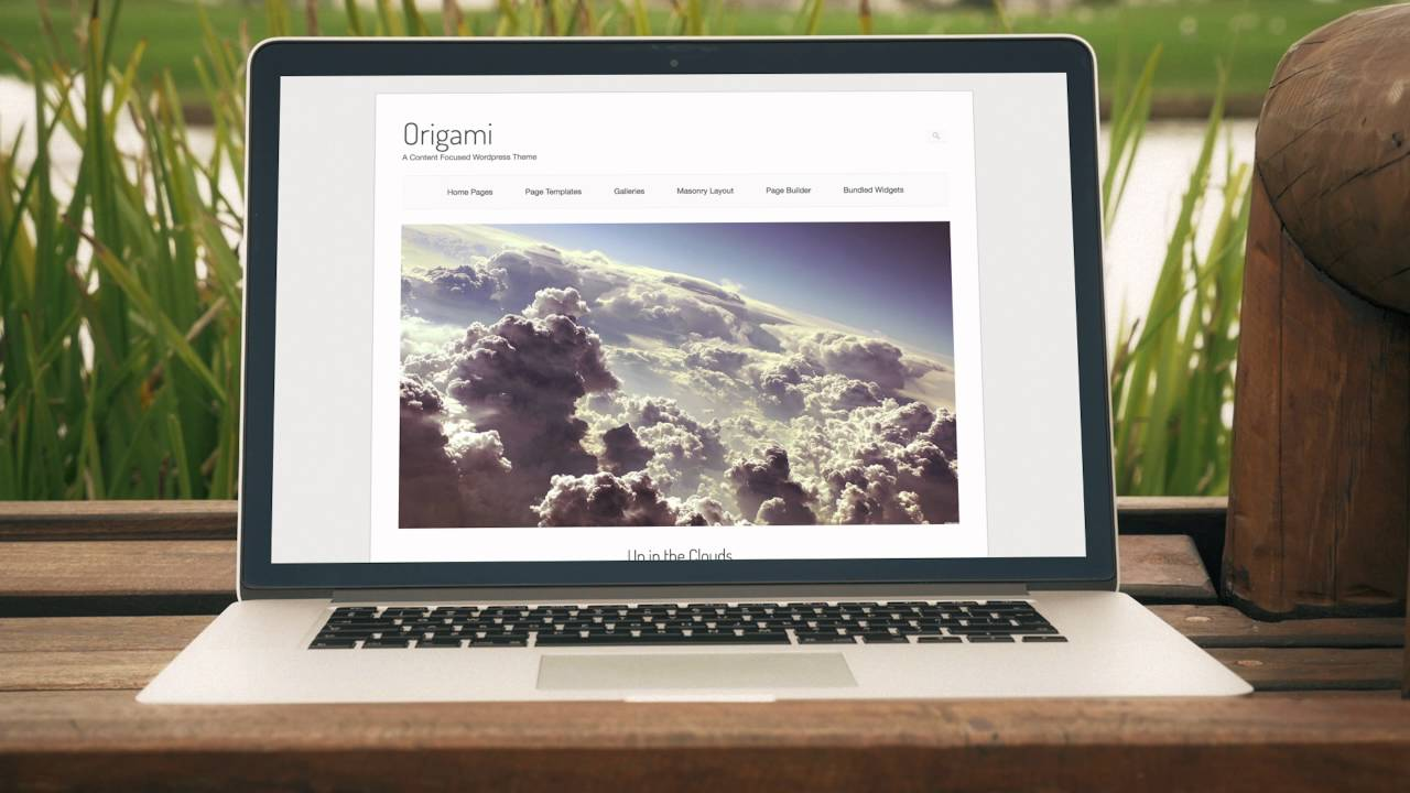 Origami An Elegant Free WordPress Theme