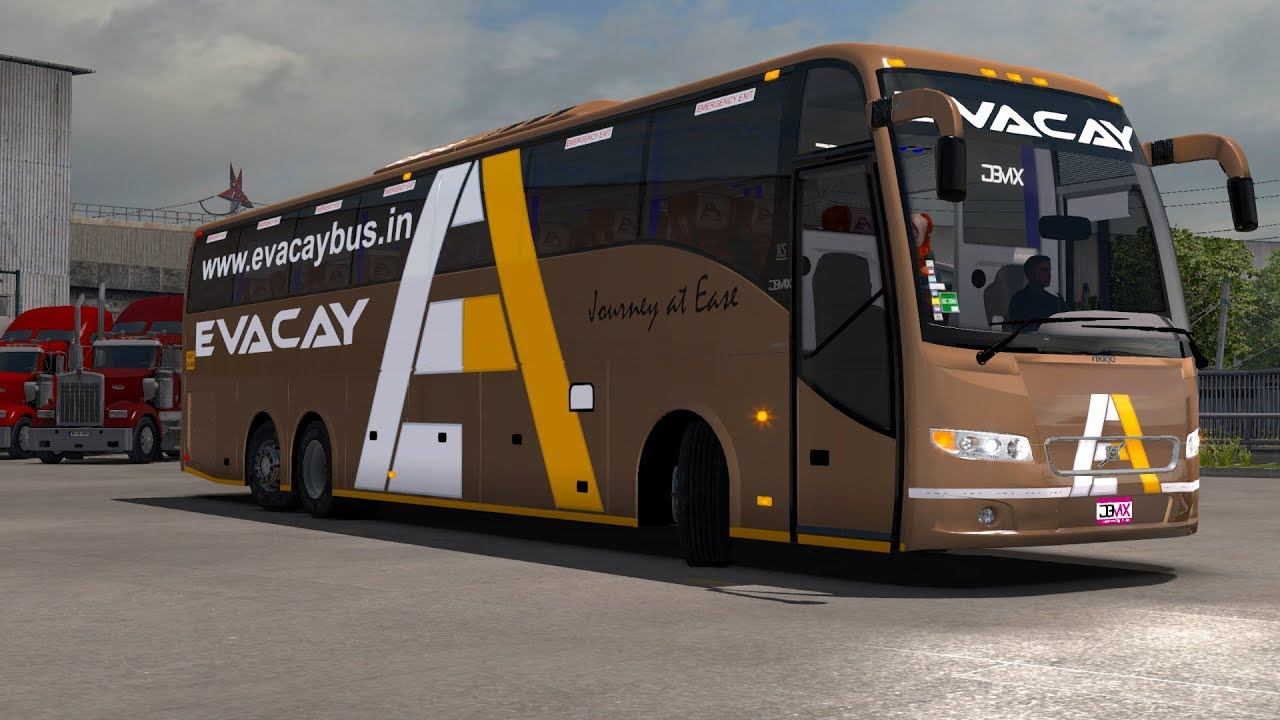 Evacay Bus - Volvo - Exploring Promods [ETS 2 Indian Bus Mod] - YouTube