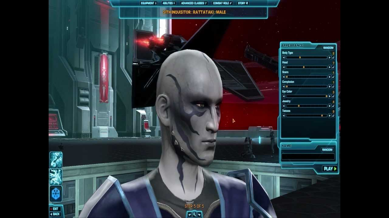 Star Wars The Old Republic Character Creation Rattataki Male