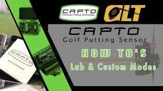 Capto Putting Sensor | Lab & Custom Modes