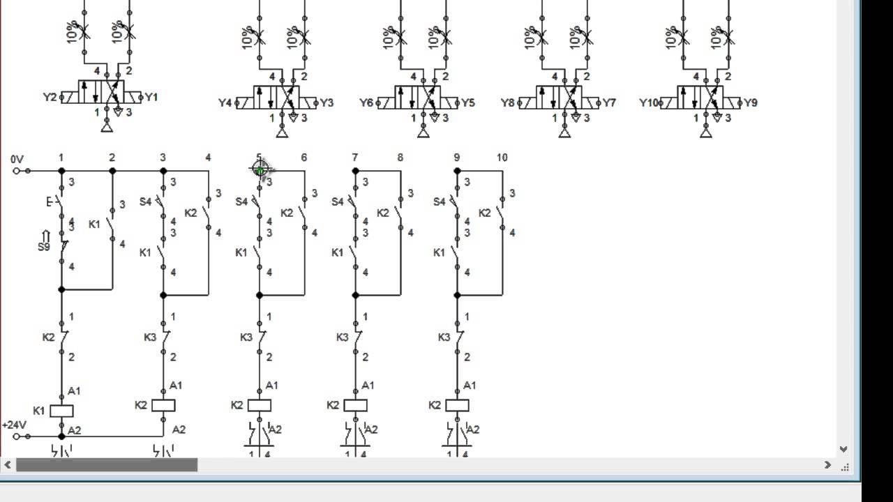Circuito Neumatico Basico : Método paso a paso en circuitos electroneumaticos youtube