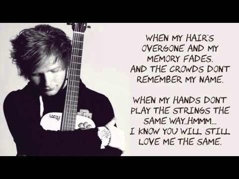 Thinking Out Loud by  Ed Sheeran ( LYRICS MUSIC )