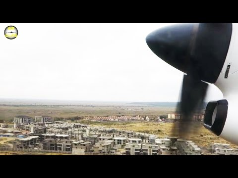 Powerful liftoff: Dash 8 lifting off from Nairobi's downtown airport Wilson! [AirClips]