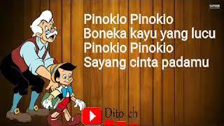 Lirik Lagu Anak - Pinokio - Christina