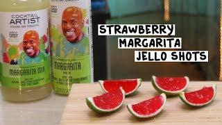 Cocktail Artist Strawberry Margarita Jello Shots - Tipsy Bartender