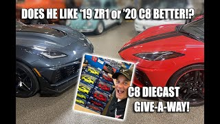 DOES HE LIKE 2020 CORVETTE or 2019 ZR1 BETTER & C8 DIECAST UNBOXING