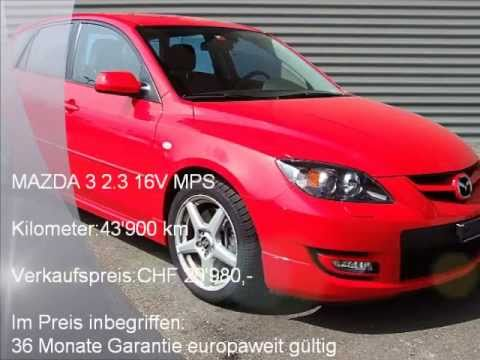 mazda 3 2 3 16v mps m 5490 autohaus schiess ag occasion youtube. Black Bedroom Furniture Sets. Home Design Ideas