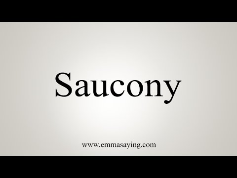 How To Pronounce Saucony