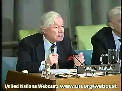 Walid Khalidi's Keynote Address on Jerusalem at the UN.