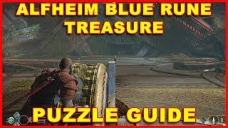 God of War (PS4) Alfheim Puzzle (Blue Rune Treasure Chest) Guide
