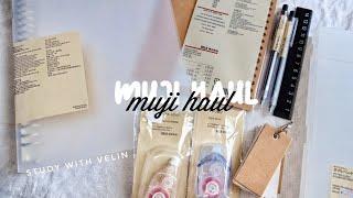 MUJI HAUL||Study with velin ||INDO