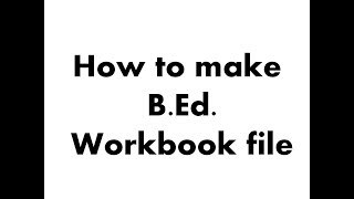 Hoe Maak B. ed educatieve werkmap Bestand | Worden.d Werkmap Bestand | Handwerk educatieve werkmap