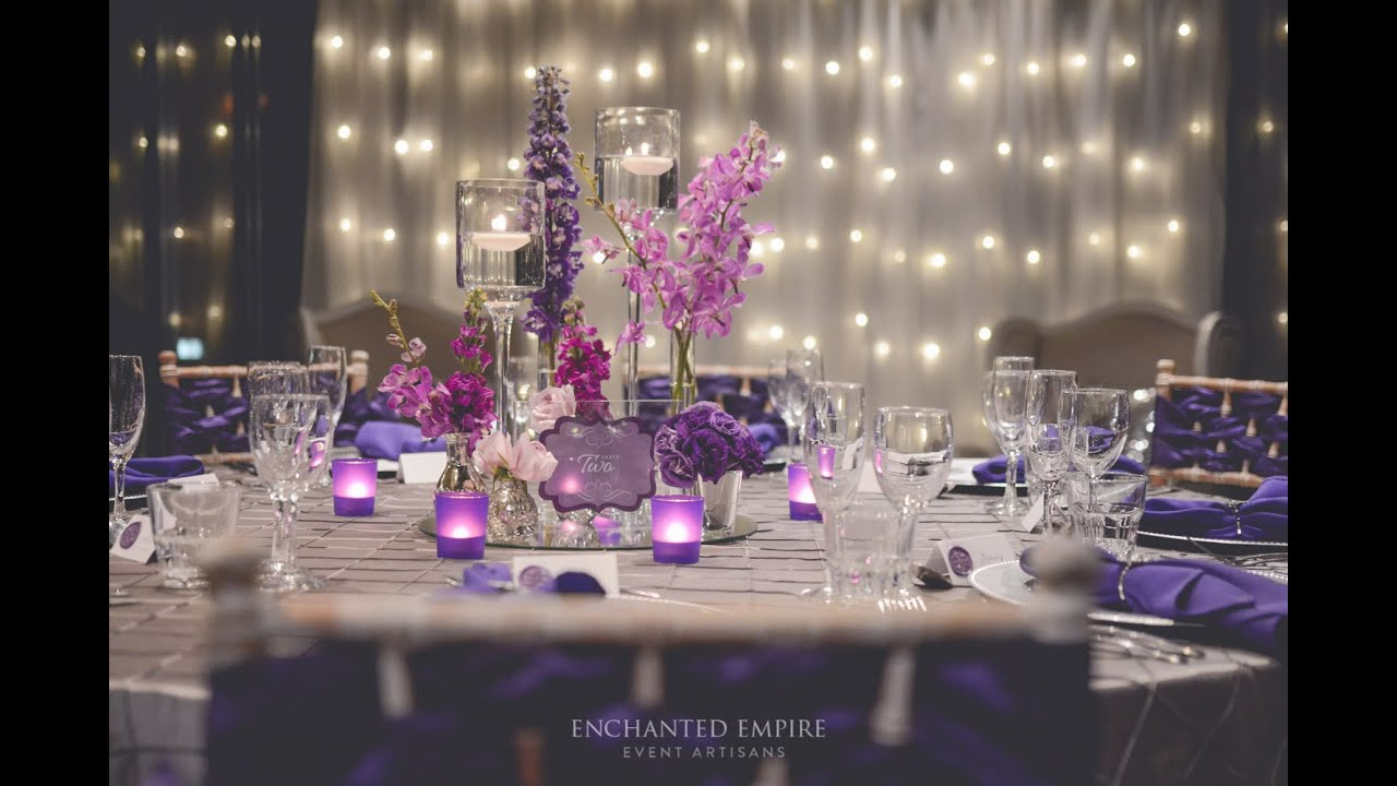 purple + silver wedding, styledenchanted empire, event