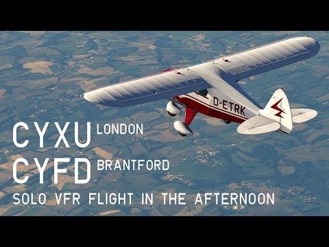 XP11 Solo Flight, CYXU London to CYFD Brantford