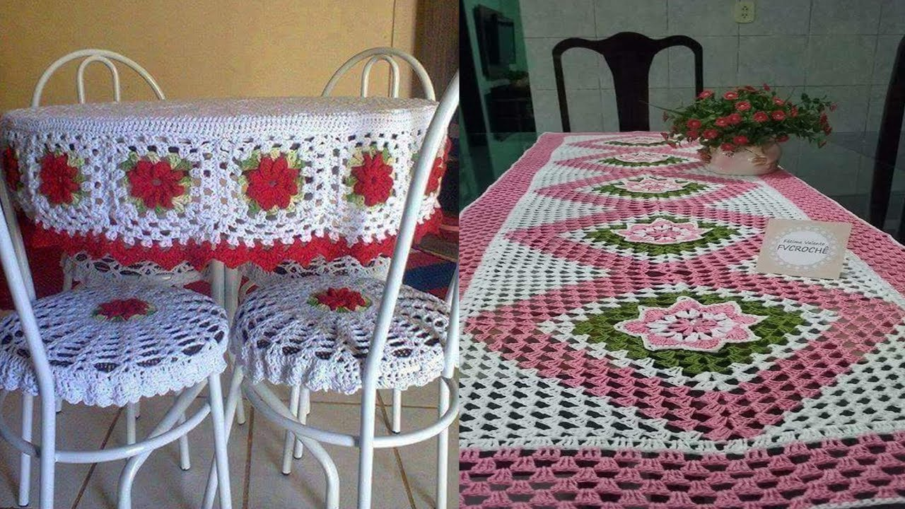 Tejidos a crochet manteles de mesa youtube for Manteles de mesa