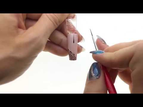 Elegant Lace Gel Nail Design Tutorial Youtube
