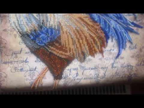 Вышивка бисером Сапфировый петух
